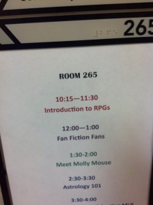 My Panel Room.  Kevin Smith's Introduction to RPGs