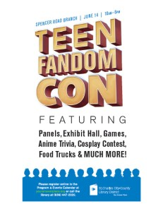 Teen Fandom Con Flyer