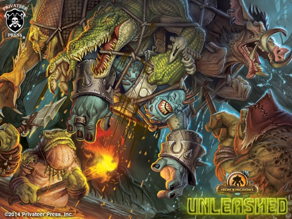 An UNLEASHED adventure party has fallen into a croak trap. The art is taken from the Gear chapter section on traps.