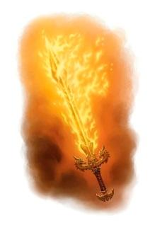 Flaming Longsword