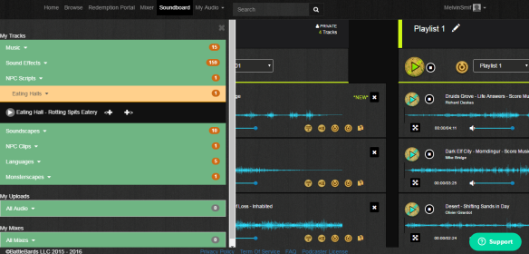 Adding Soundboard Tracks